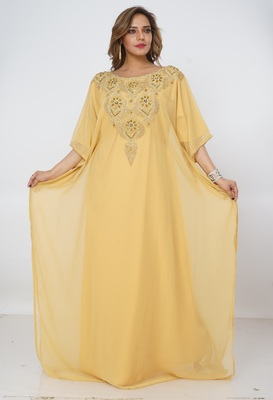 Dubai Kaftan Women Dress Long Gown Farasha