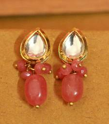 Pink Onyx Studs
