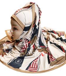Justkartit Women'S Daily Wear Designer Printed Jersey Stretchable Material Hijab Scarf Dupatta