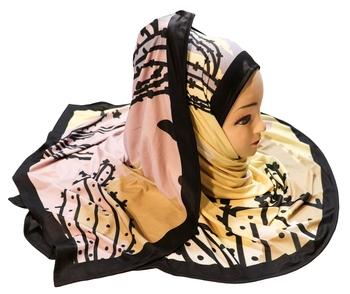 Justkartit Women'S Occasion Wear Digital Printed Hijab Scarf Dupatta