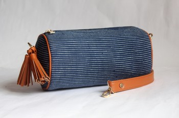 Striped Circular Bag