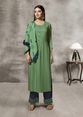 Green Thread Rayon Salwar