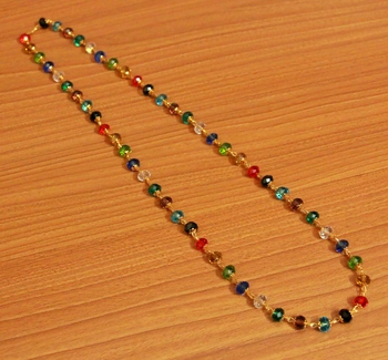 Multicolour Crystal Look Single Line Necklace