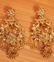 Gold Zircon       Chandbali