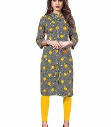 MULTICOLOR PRINTED COTTON PARTY WEAR KURTIS
