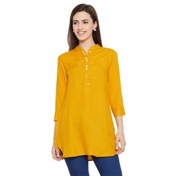 Rayon basic mustard tunic