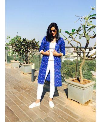 Blue Ikat Jacket