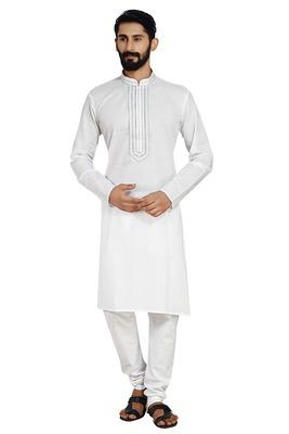 White Stylish Kurta Pyjama
