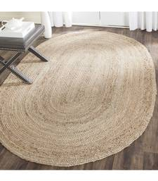 Handmade Jute Rug, Natural Jute Oval Rag Rugs Indian Handmade Handwoven Ribbed Solid Area Rugs, Beautiful Floor Rug