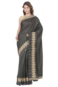 4d761b32d9 Soch Mehendi Green Embroidered Silk saree with blouse. Shop Now