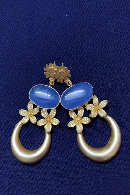 Gold stone Earrings