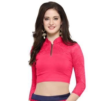 Women's Cotton Lycra Stretchable Readymade Blouse
