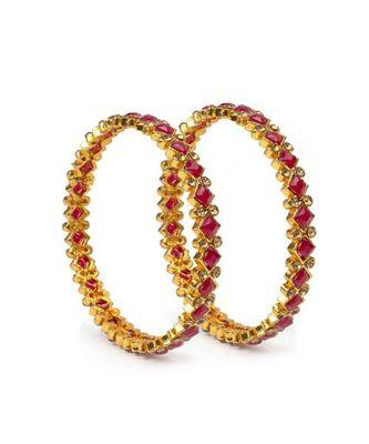 Set Of 2 Brass Tone Bracelets By Leshya