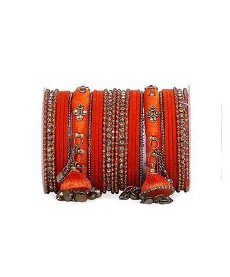 Bridal Silk Thread Sets With Large Jhumki Bells