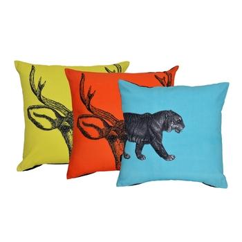 Reme Printed Multicolor Cotton Square Cushion Covers