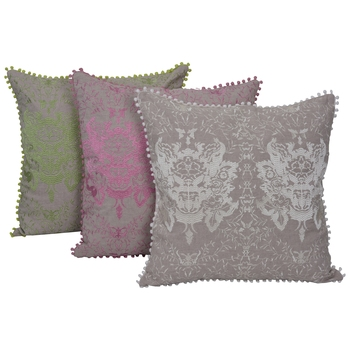 Reme Embroidered Multicolor Cotton Velvet Square Cushion Covers