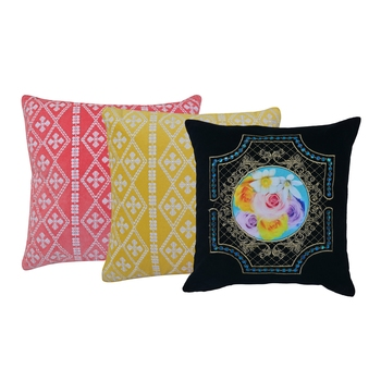 Reme Embroidered Velvet Cushion Covers