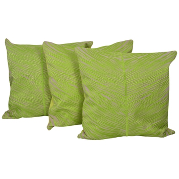 Reme Embroidered Cotton Green Square Cushion Covers for sofa