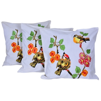 Reme Embroidered Cotton Multicolor Square Cushion Covers for sofa