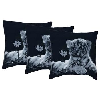 Reme Printed Cotton Multicolor Square Cushion Covers For Sofa