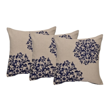 Reme Embroidered Chambray Multicolor Square Cushion Covers for sofa