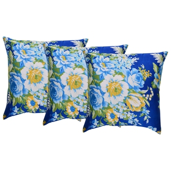 Reme Printed Chambray Multicolor Square Cushion Covers for sofa