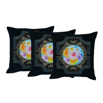 Reme Embroidered Multicolor Velvet Cushion Pillow Covers