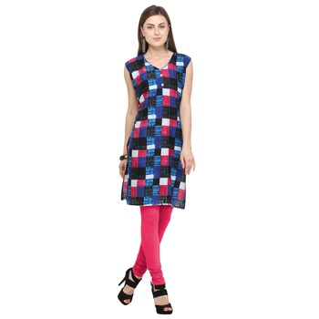 Multicolor printed cotton kurtis