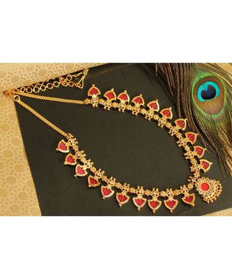 BEAUTIFUL KERALA STYLE RED PALAKKA NECKLACE