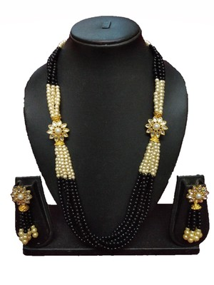 BLACK GOLD PLATED POLISH DESIGNER ETHNIC TRADITIONAL CONTEMPRORAY NECKLACE