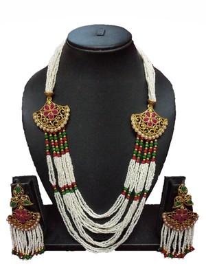 Gold Plated Polish Multi Colour Designer Kundan Ethnic Traditional Contemporary Fashion Necklace
