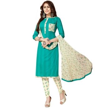 Green hand embroidery cotton salwar