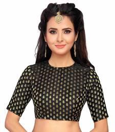 Designer Black Banarasi Silk blouse