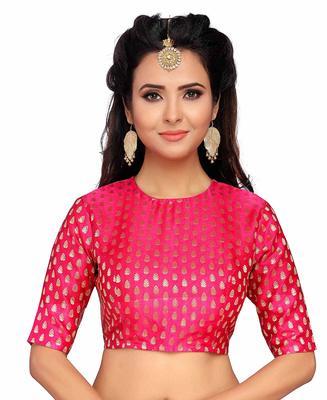 Designer Pink Banarasi Silk blouse