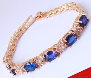 Blue diamond bracelets