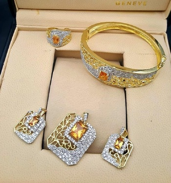Gold Diamond Jewellery Combo