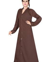 Brown plain cotton burka