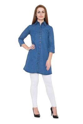 Blue plain cotton kurtas and kurtis