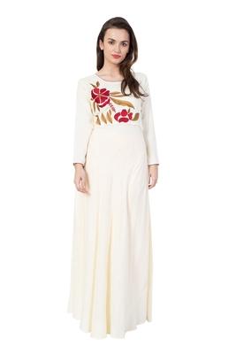 White embroidered rayon kurtas and kurtis