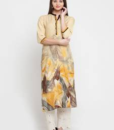 Shree Women Mustard Liva Printed Kurta