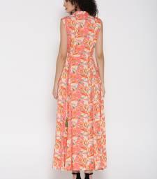 Shree Women Peach Rayon Printed Dress