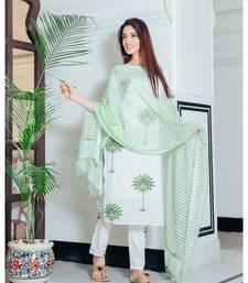 Sage green tree print suit set