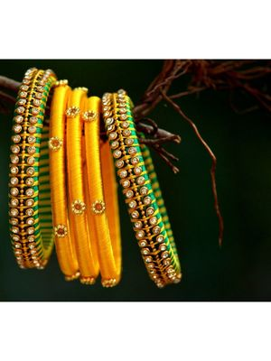 Yellow bangles-and-bracelets