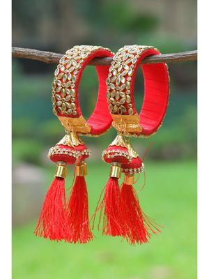 Red bangles-and-bracelets