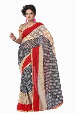 Florence Women's multicolor Faux_Georgette printed Saree With Blouse