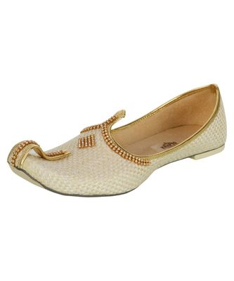 Men's Cream Jute Mojaris