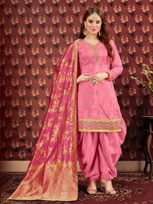 Pink Party Wear Designer Patiala Suit