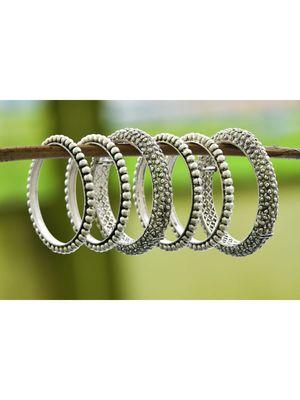 Silver bangles-and-bracelets