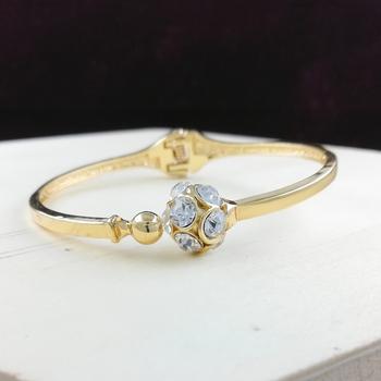 Saizen Bracelets for Women Gold Plated Crystal Bracelet Bangle Jewellery for Girls and Women