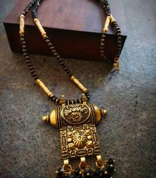 Oxidised metal Antique Gold Mangalsutra